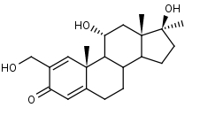 2-Hydroxymethyl-17_alpha_-methylandrosta-1_4-diene-11_alpha__17_beta_-diol-3-one - Product number:120322