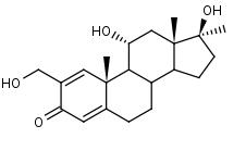 2-Hydroxymethyl-17_alpha_-methylandrosta-1_4-diene-11_alpha__17_beta_-diol-3-one - Product number:120322