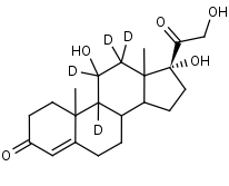 Hydrocortisone-9_11_12_12-d4 - Product number:130023