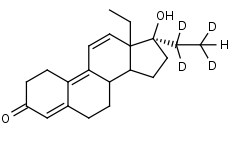 Tetrahydrogestrinone-d4 - Product number:130599