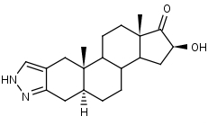 16__-Hydroxy-2_H-5__-androst-2-eno_3_2-c_pyrazol-17-one - Product number:120702