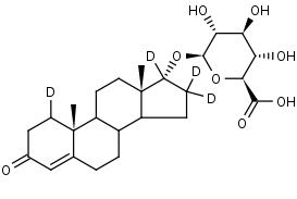 Epitestosterone-1_16_16_17-d4_Glucuronide - Product number:140765